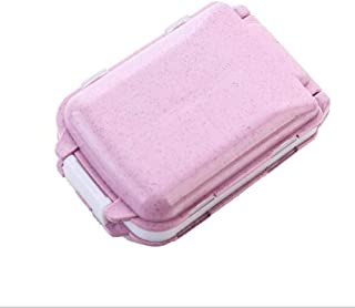 HJ 薬スース サプリメントケース ピルケース 習慣薬箱 常備薬 薬の飲み忘れ防止 小物入れ 3段分割 折り畳み コンパクト (ピンク, 1個セット)