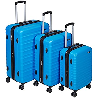 AmazonBasics Hardside Spinner Luggage - 3 Piece Set (20 , 24 , 28 ), Light Blue
