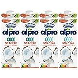 Alpro Central Lechera Asturiana Bebida de Coco, sin Azúcar, 8 x 1L