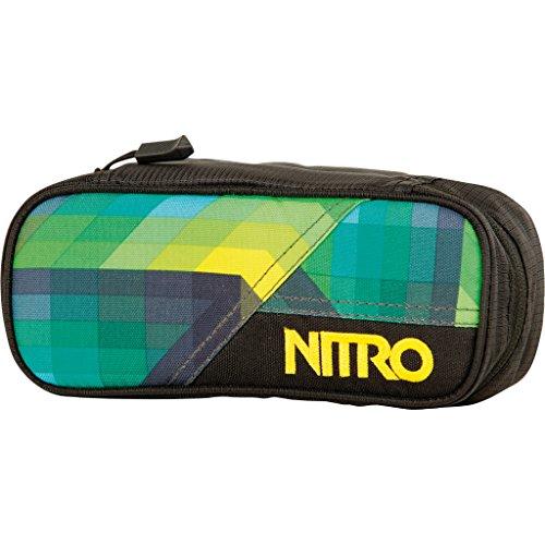 Nitro Pencil Case, Federmäppchen, Schlampermäppchen, Faulenzer Box, Federmappe, Stifte Etui, Geo Green