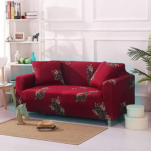 LUNANA Elastische bankovertrek, elastisch, antislip, stretchstof, elegant en duurzaam, voor stoelen – 1/2/3-zits