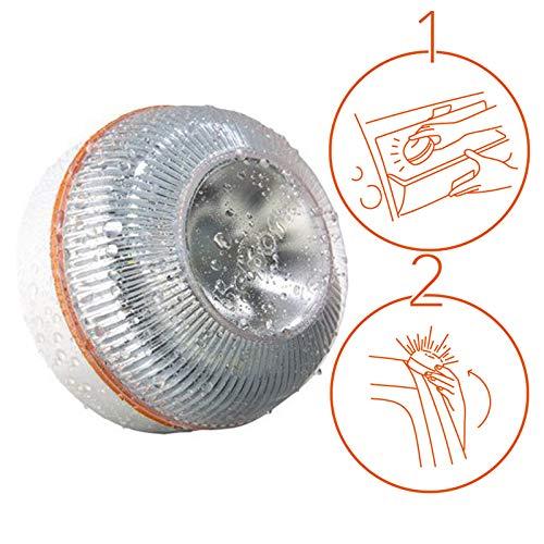 MSVV LUZ DE Ayuda luz Emergencia Coche/luz de Emergencia v16, automático + Martillo de Emergencia: rompeventanas + Cortador...
