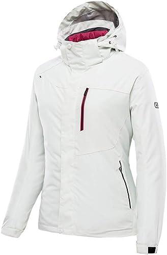 NBOMDIE Veste de Ski à Capuche imperméable pour Femmes Coupe-Vent épaissir Manteau d'hiver Coupe-Vent