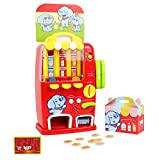 STOTOY Vending Machine Toys, Interactive Learning Electronic Educational Toys for 3+ Years Old Kids, Drink Machine Toys with Coin or Credit, Pretend Play for Toddler Birthday