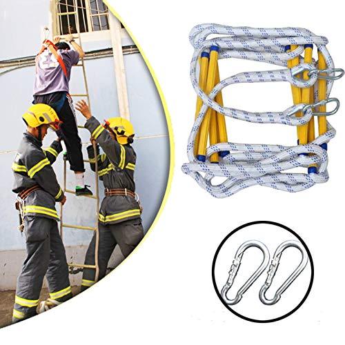 Emergencia Incendios Escalera Cuerda, Rescate Escalera de cuerda para Emergencias Pesado La seguridad Escaleras con Mosquetones, para Ventanas y Balcones para Uso rápido en el fuego. ( Size : 9M )