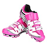 Cycling Shoes, 1 Pair Anti-Slip Women Mountain Bike Shoes with Spike and Tool