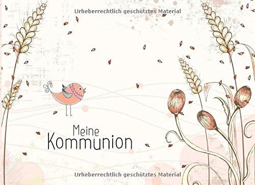 Meine Kommunion: Gästebuch I Erinnerungsalbum für die Kommunion zum selbst gestalten I Querformat...