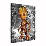 Amacigana Groot Poster Wandbild,Marvel Guardians of The