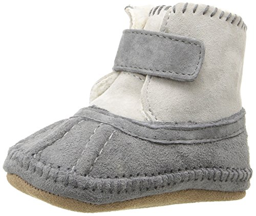 Robeez Girls' Galway Cozy Bootie Boot, Grey, 0-6 Months M US Infant