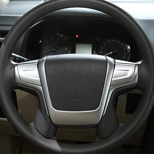 Bandes en Plastique ABS de décoration de Volant Garniture Accessoires de Voiture Argent Mat pour Land Cruiser Prado FJ150 150 2010-2018