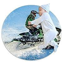 スノーモービル 02 子供のサークル ラグ、カーペット ブランケット マット、家族の寝室のリビング ルーム ゲーム ルームの床の装飾で使用