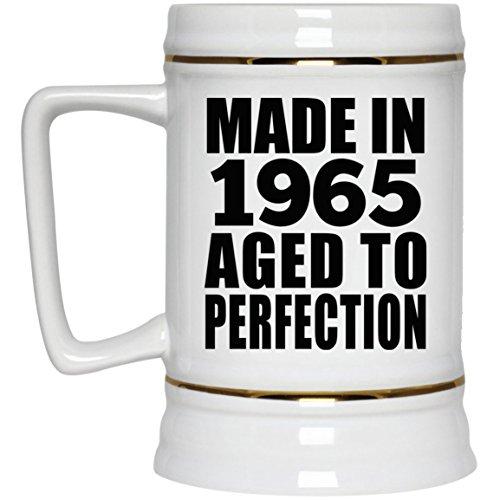 55th Birthday Made In 1965 Aged to Perfection - Beer Stein Jarra de Cerveza, de...