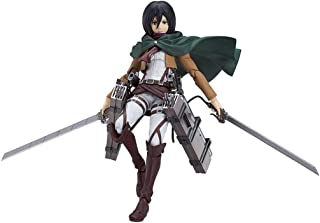 Siyushop Attack On Titan: Mikasa Ackerman Figma Action Figure - Highly Detailed Accurate Sculpt - Equipped with Weapons - High 15CM