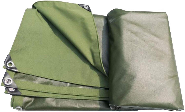 MuMa Plane Verdicken Wasserdicht Regenfest Schatten Segeltuch Draussen Besonders Angefertigt (Farbe   Armeegrün, gre   4  6m)