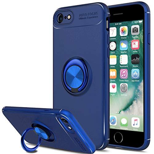 SORAKA Funda para iPhone 6 Plus iPhone 6S Plus con Anillo Giratorio de 360 Grados Funda Silicona Suave Funda Ultrafina con Placa de Metal para Soporte magnético de teléfono para automóvil
