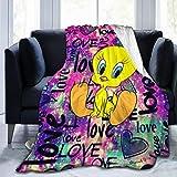 Kerin Twe-Ety Bi-Rd Bedsu-Re Fleece Blanket Throw Super Soft Cozy Luxury Bed Flannel Blanket 50'X40'