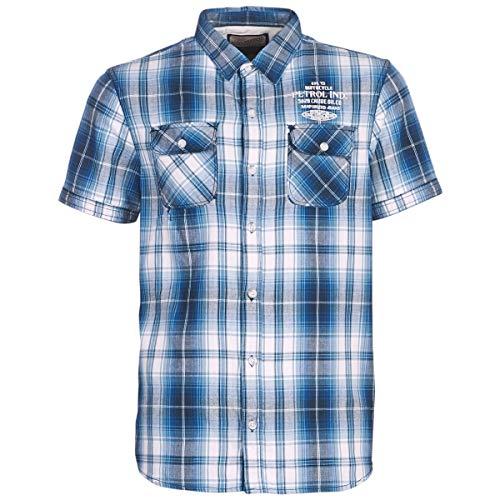 Petrol Industries NEEVY Hemden Herren Marine - L - Kurzärmelige Hemden