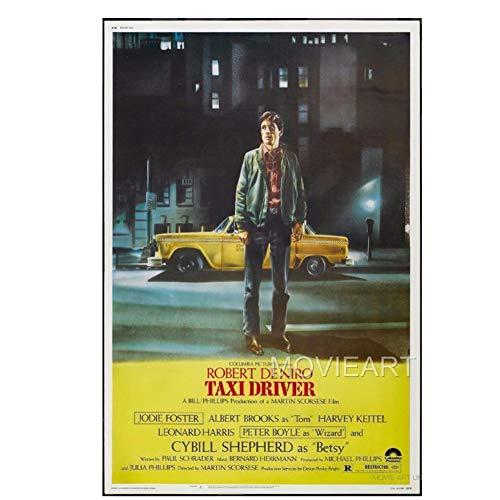Sanwooden Taxi Driver DE NIRO Vintage Film Poster Wandmalerei Für Wohnzimmer Wohnkultur Druck auf Leinwand -50x70cm Kein Rahmen