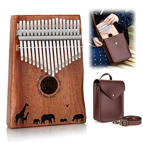 Kalimba, FIXM 17 Tasten Daumenklavier Tragbar und Einfach zu Bedienen, Daumen-Klavier mit Lernanleitung und Stimmhammer, Perfektes Geschenk für Anfänger und Profis