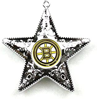NHL Boston Bruins Silver Star Ornament, 2-Pack