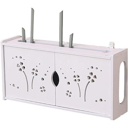 Luckiner Router Montaje en Pared Estante Soporte Tv Accesorios Organizar TV Box Reproductor DVD consola de juegos Control remoto