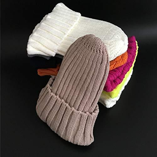 Winter Brand Female Fur Pom Poms Hut Wintermütze für Frauen Mädchenmütze...