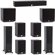 JBL 7.2 System with 2 JBL Stage A190 Floorstanding Speakers, 1 JBL Stage A135C Center Speaker, 4 JBL Stage A130 Bookshelf Speakers, 2 JBL Stage A120P Subwoofers
