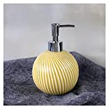 Dispensadores de loción Botella de jabón de cerámica en Relieve Creativo Press Botella de Botella Loción Dispensador Dispensador de jabón Nordic Minimalista Botella de baño jabón (Color : A)