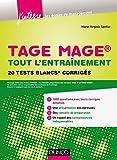 TAGE MAGE® - Tout l'entraînement : 20 tests blancs corrigés