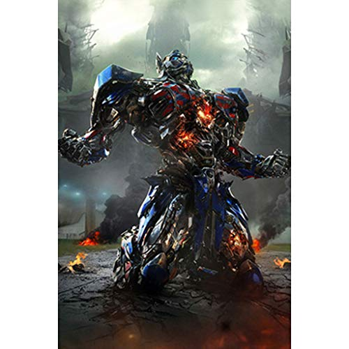 puzzles Transformers 5 The Last Knight Optimus Prime Movie Megatron Bumblebee Madera De 1000 Piezas(Color:C)