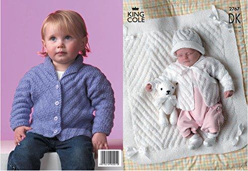 Koning Cole Baby Jassen, Hoed & Deken DK Breien Patroon 2767 door Koning Cole - Koning Cole Patronen