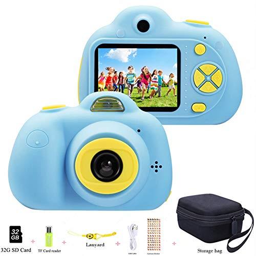 ToyZoom 1080P HD Bambini Fotocamera Digitale Selfie Macchina Fotografica 18MP Videocamera con Zoom 4X, LCD da 2 Pollici, Dual Lens Camera Regalo di Compleanno per Bambini [Versione Italiana] (Blu)