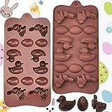 BUZIFU Stampi per Cioccolato Stampo in Silicone per Fare Uova di Pasqua Stampo per Cioccolato Coniglietto di Pasqua Strumento di Decorazione Pasqua
