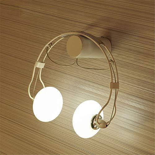 FMGR Aplique Pared Interior LED Lámpara De Pared Moderna para Salon Dormitorio Sala Pasillo Escalera,Lámpara De Pared para Auriculares,Blanco