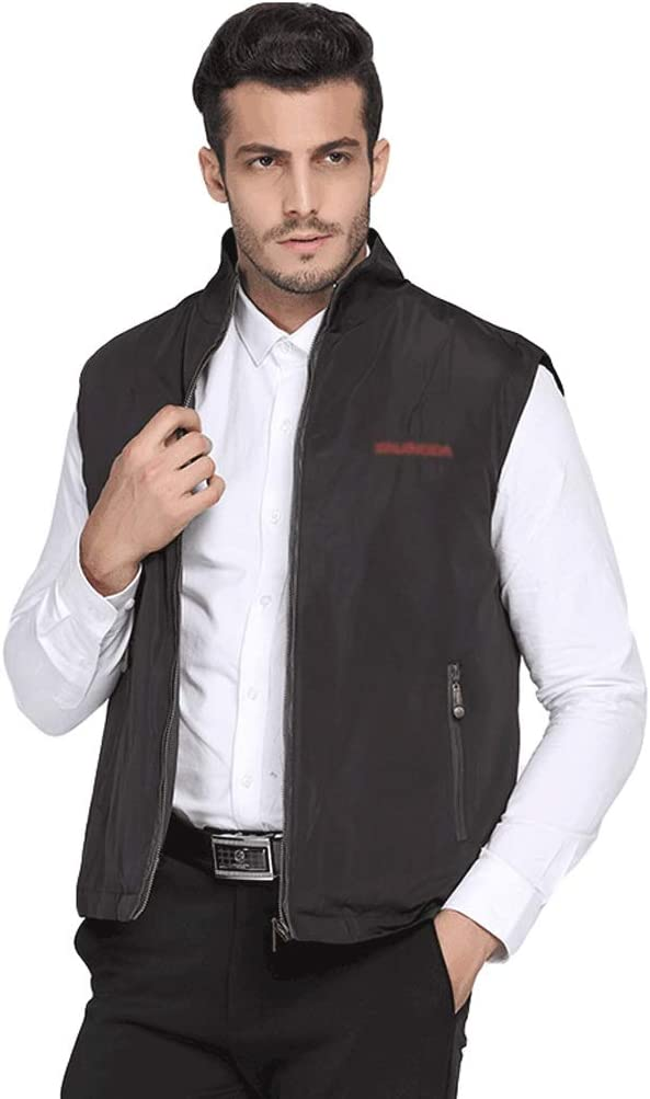 HJHJ Christmas Vest Men's Vest with Detachable Fleece Liner Upgrades Thickened Winter Windproof Warm Sleeveless Casual Jacket XL-4XL Black Sleeveless Vest (Color : A, Size : XXXX-Large)