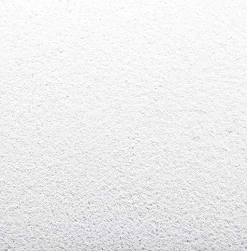 Baumwollputz/Flüssigtapete Schneeweiß mit Glimmer perlmutt fein für ca. 4m², Wandbeschichtung innen aus Baumwolle. Die Fertigputz Alternative zu Rollputz, Streichputz, Feinputz, Strukturputz