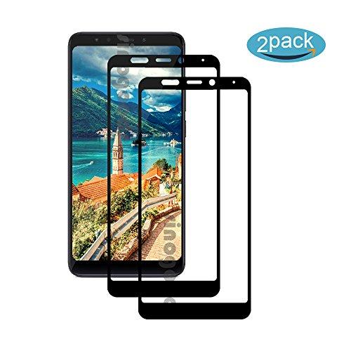 [2 Pack] Für Xiaomi Redmi 5 Plus Panzerglas Schutzfolie (Schwarz), Bildschirmschutzglas Panzerfolie für Xiaomi Redmi 5 Plus Schutzglas Folie [Ultra-klar] [9H Festigkeit] [Kristallklar] [Bubble Free]
