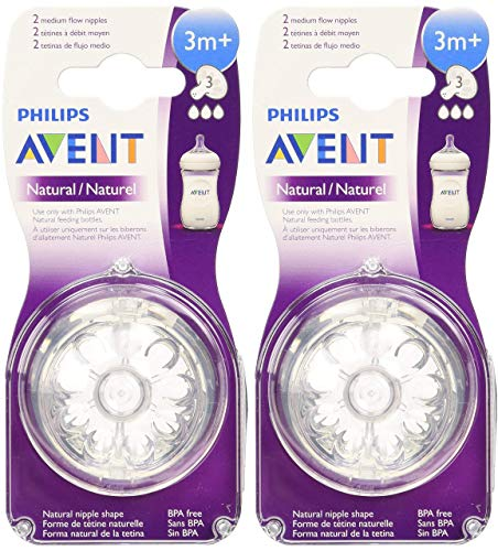 Philips Avent Natural Nipple Medium Flow - by Philips AVENT
