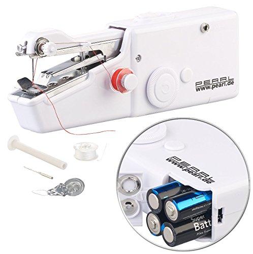 PEARL Mini Nähmaschine: Mini-Handnähmaschine (Hand Nähmaschinen)