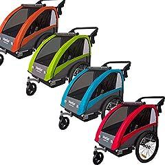 Veelar Sports 2 w 1 dzieci wisiorek wisiorek na przyczepę roweru z buggy zestaw + zawieszenie BT603 (ROT)