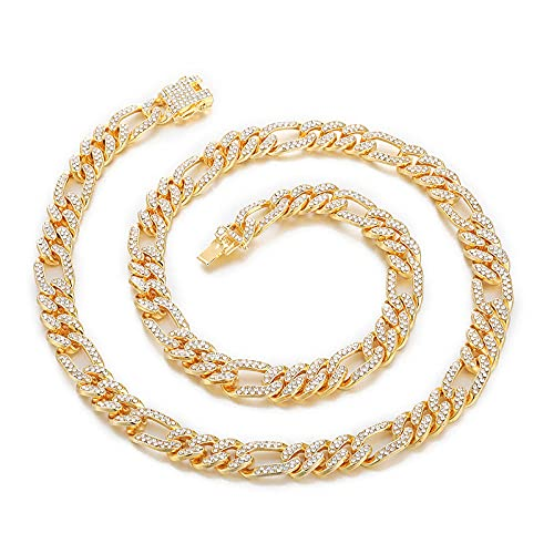 maozuzyy Collar Colgante Joyería Collar De Ocio De Moda Pulsera De Hombre Clásico Simple-Dorado 55Cm