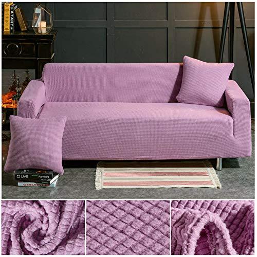 ASCV Funda de sofá de Tela de Forro Polar elástico Fundas de sofá de Color sólido para Sala de Estar Funda de sofá seccional Fundas de sofá Fundas de cojín A8