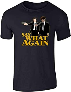 Say What Again Minimalist Graphic Tee T-Shirt for Men