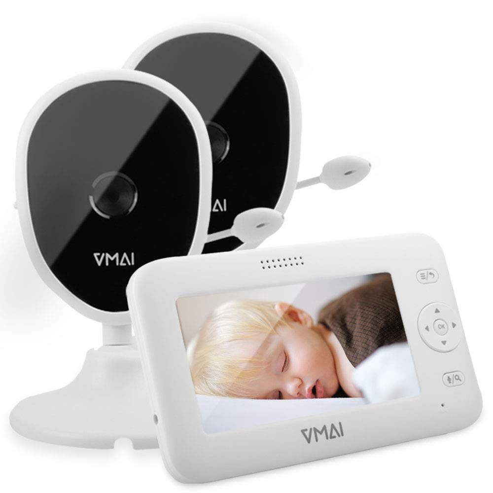 Video Baby Monitor, with Two Digital Cameras By VMAI