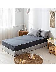 サンマドラ 布団カバー 寝具カバーセット 枕カバー シーツカバー 肌に優しい フリル付き 純色 無地