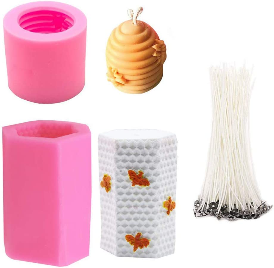 3D Bee Ranking TOP16 Honeycomb Candle Molds Smoke Low 50Pcs Wicks wholesale with