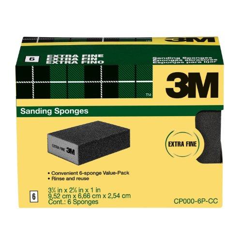 3M Sanding Sponge – Extra Fine Grit – 6 Pack