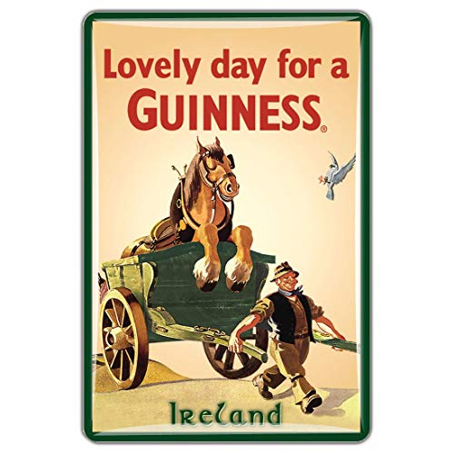 Guinness Official Merchandise Quality Epoxy Magnet With Horse & Cart Design
