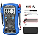 Digital Multimeter Auto-Ranging Volt Amp Ohm Meter,AN-39C 6000 Counts TRMS Electrical Tester DMM for AC/DC Current,Voltage,Resistance Cap,Hz,Diode,NCV and Temperature