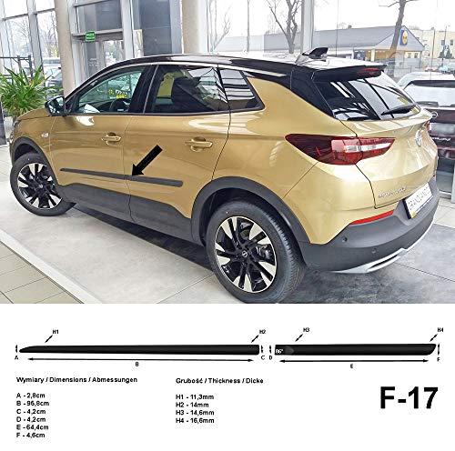 Spangenberg Listones de protección laterales para Opel Grandland X SUV Combi a partir de año de construcción 06.2017- F17 (370001718)
